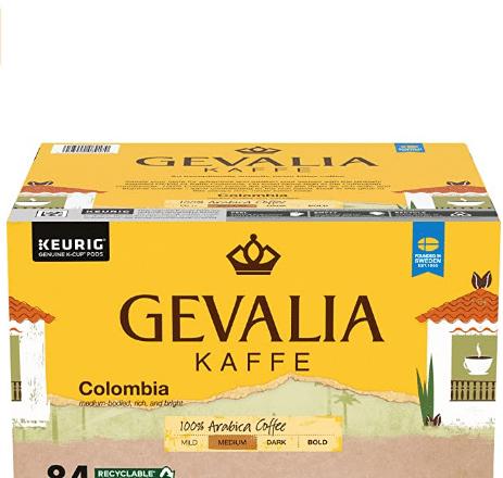 Gevalia Colombia Blend K-Cups Pods